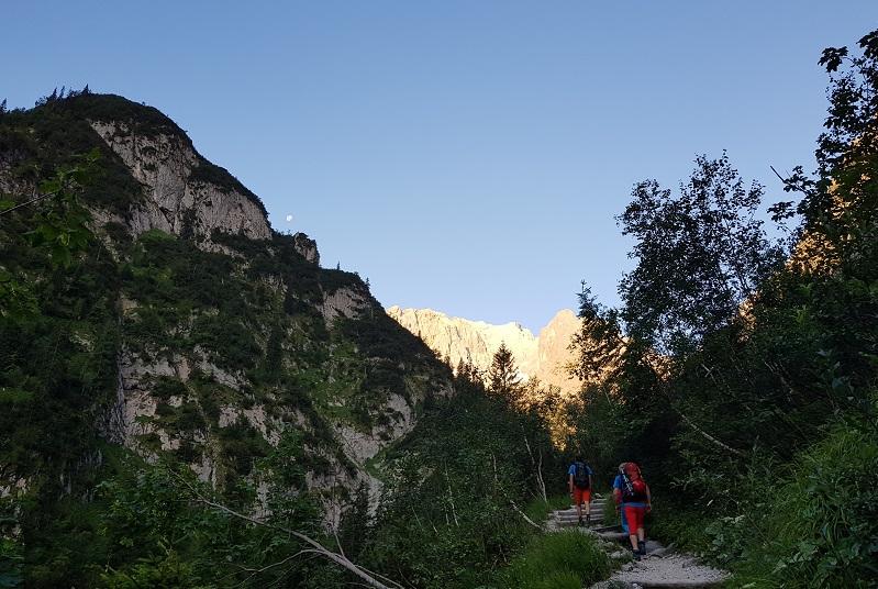 Zugspitze über das Höllental - Kurz vor der Höllentalangerhütte