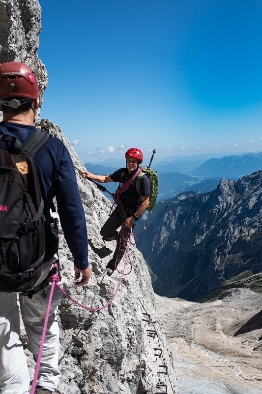Klettersteig an der Zugspitze