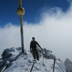 Gipfel der Zugspitze im Schnee